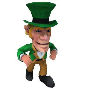 3d obj asset unity leprechaun ready