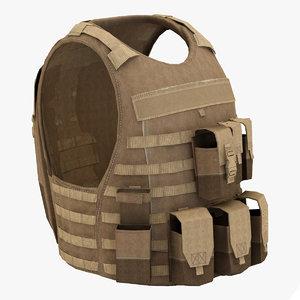 military bulletproof vest 3d lwo