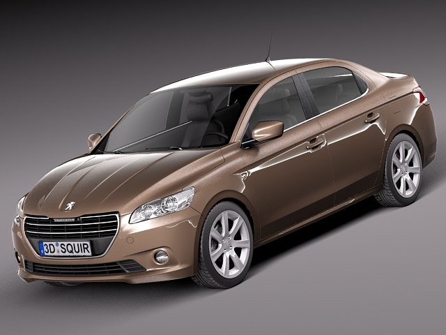 peugeot 301 2013 sedan 3d model