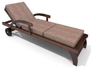 3d model of beach lounger