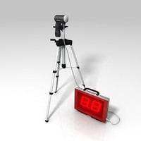 radar gun baseball 3d model