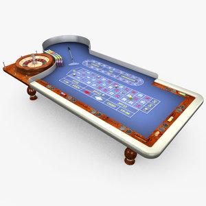 3d model casino table -