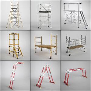 3d scaffold tower set model
