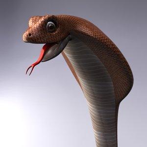 3d cartoon cobra snake