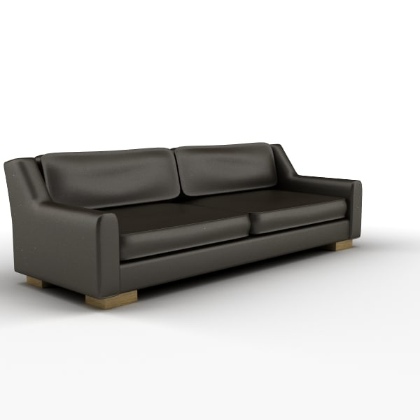 3d seater brown leather sofa chair