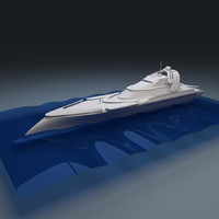 3d water yacht