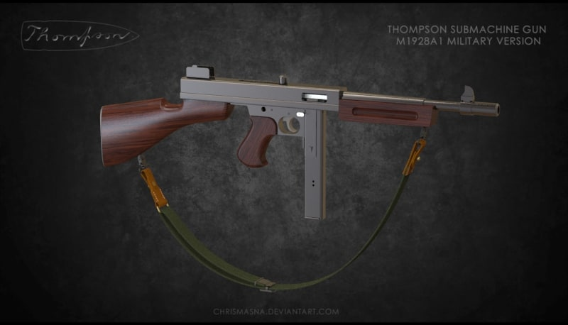 thompson submachine gun 3dm