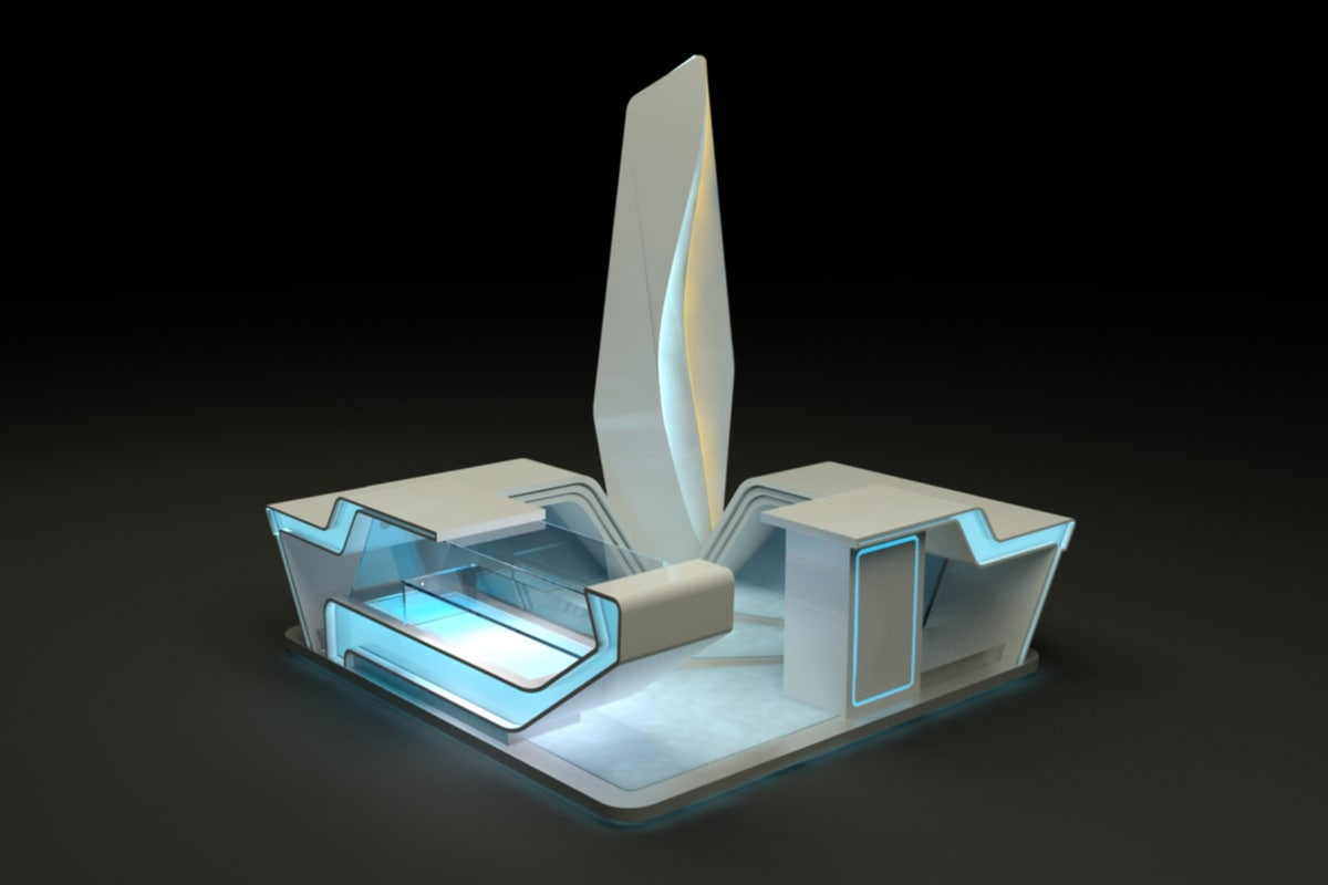 3d model design booth stand