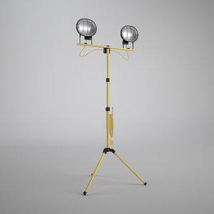 3d model twin work light