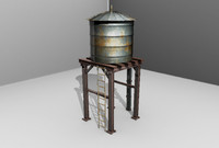 3d model water tower