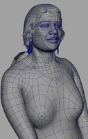 3ds max girl woman female