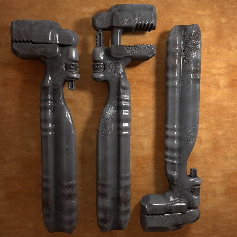 old worn pipewrench tool c4d