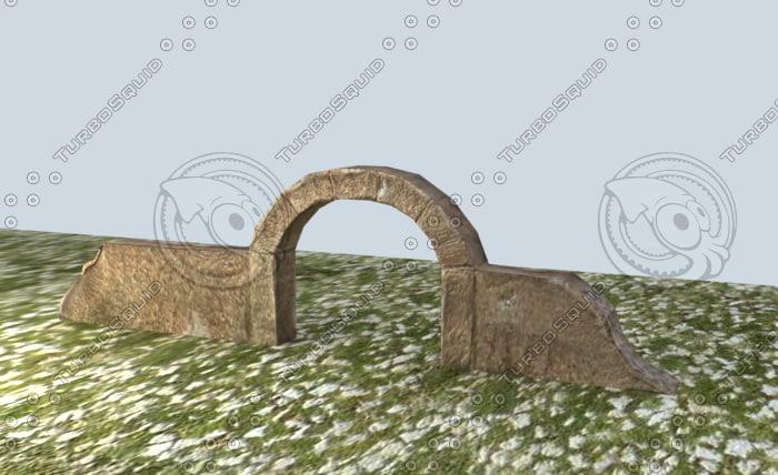 ancient gate 3d 3ds