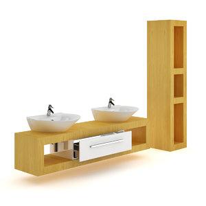bathroom furniture set 2 3d max