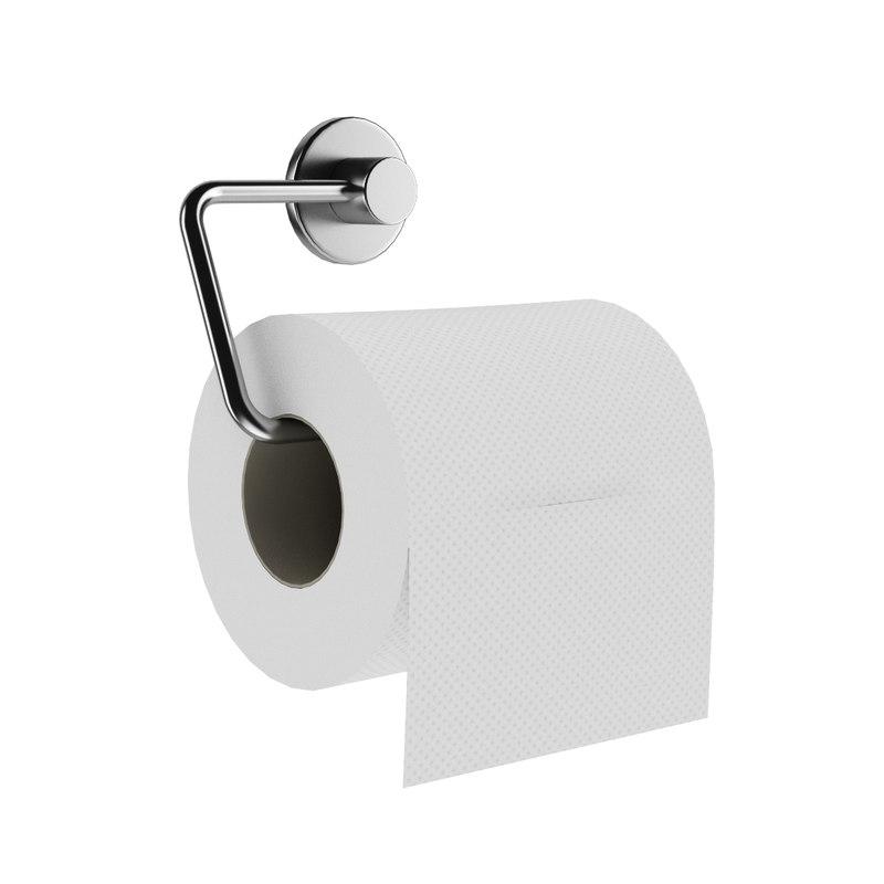 3d model toilet paper