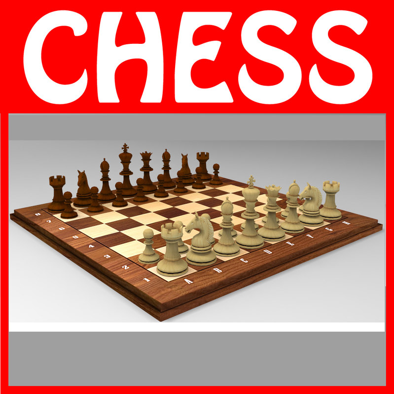 chessboard set chess 3d max
