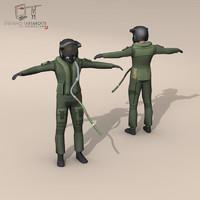 3d pilot character