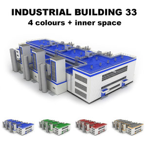 3dsmax large industrial building 33