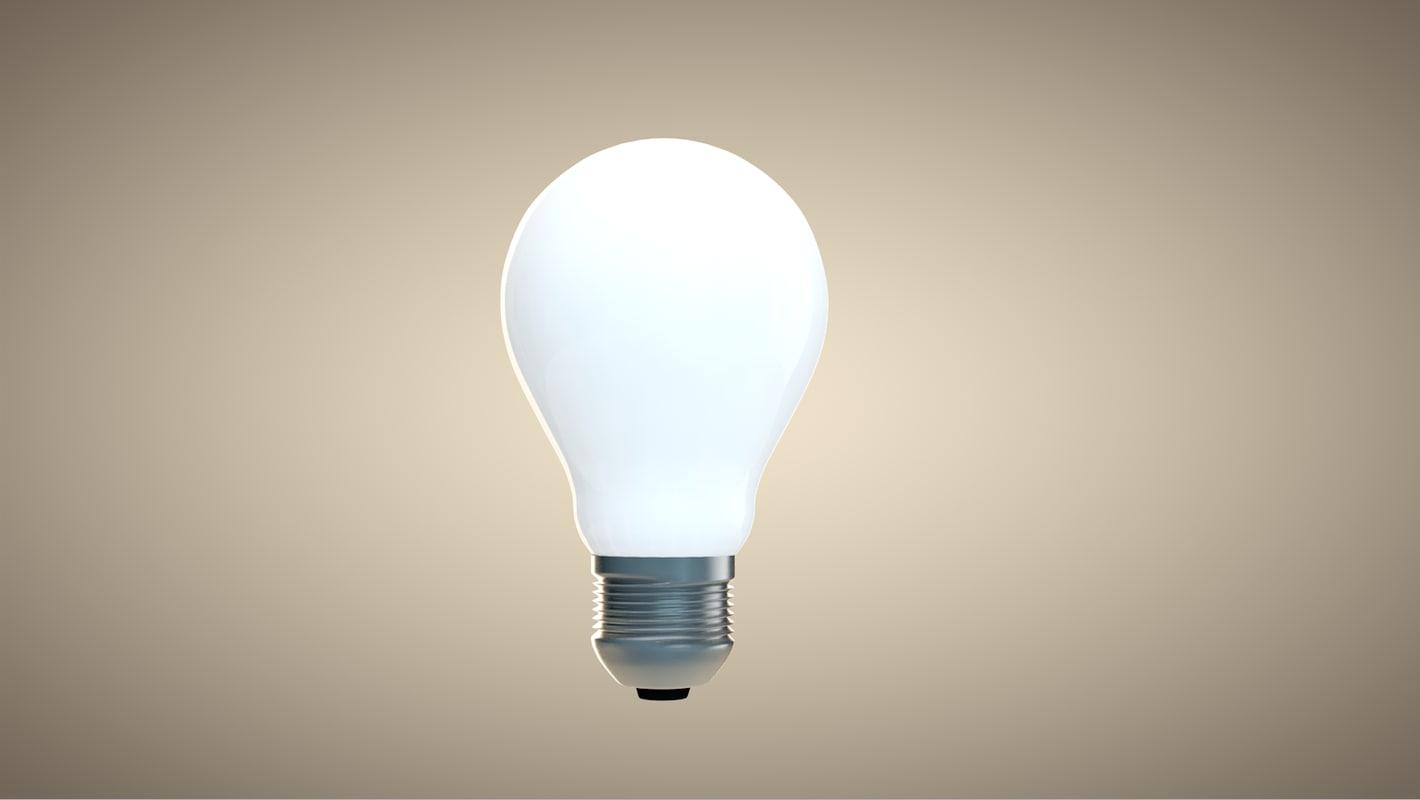 3d lightbulb light bulb