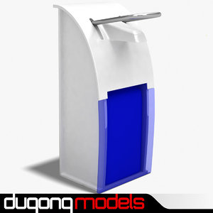 3d model dugm04 hand sanitizer dispenser