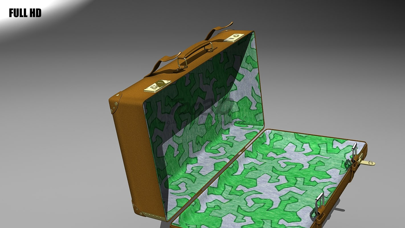 leather baggage luggage 3d model