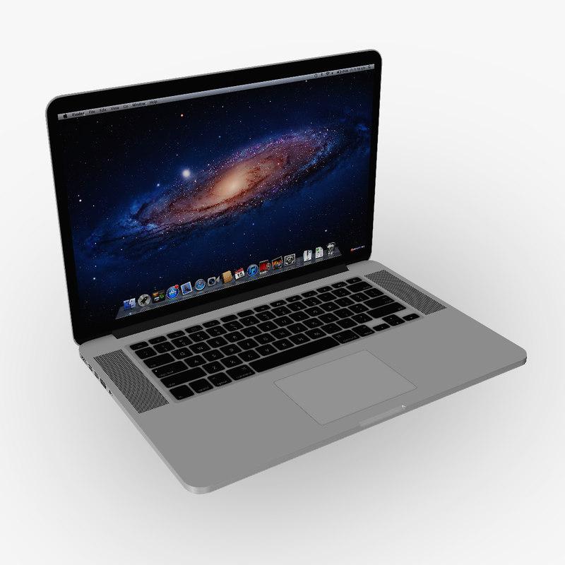 3d apple macbook pro retina