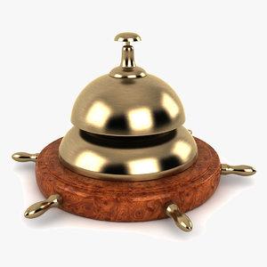 nautical desk bell 3d 3ds