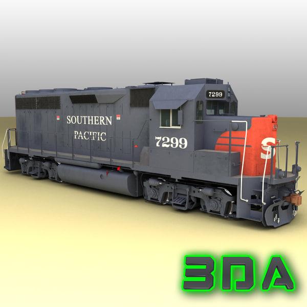 emd gp40-2 railroad engines max