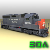 emd gp40-2 railroad engines max