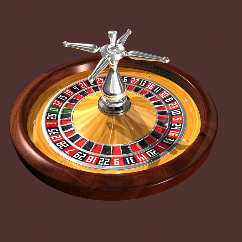 3d model of roulette wheel style