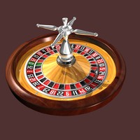 3d model of roulette wheel style