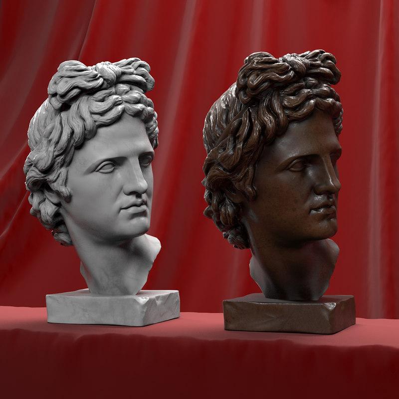 head sculpture apollo 3d max