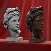 head sculpture apollo 3d max