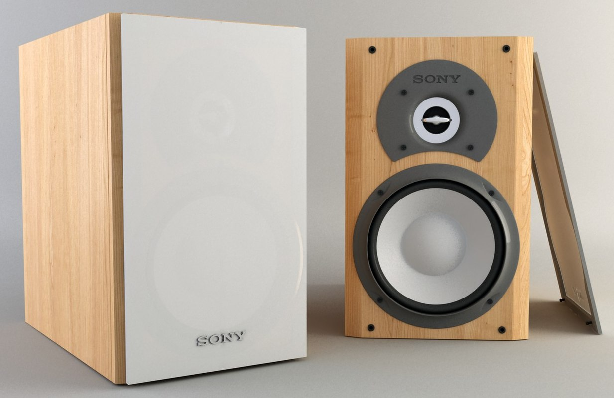 sony speakers 3d max
