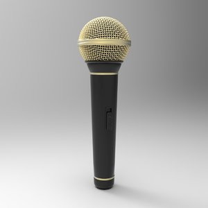 3d microphone music model