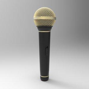 3d microphone music model