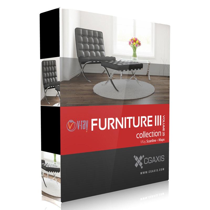 3d model volume 25 furniture iii