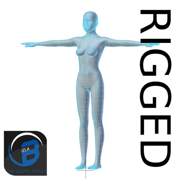 3d rigged base mesh young