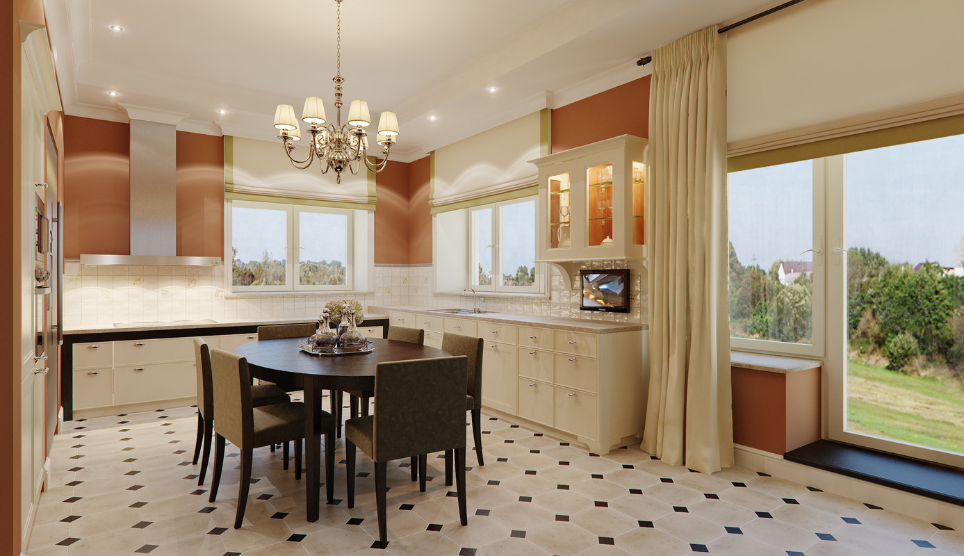 3d kitchen modern interior