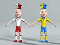 Football cartoon character