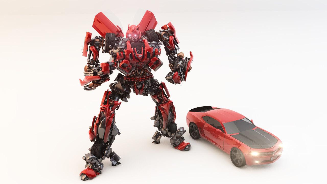3d model of robot bumblebee