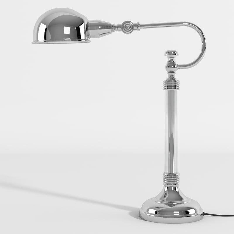 realistic newton table lamp 3d model