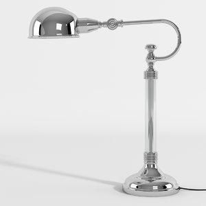 realistic newton table lamp 3d model