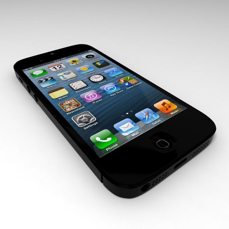 iphone phone 3d model