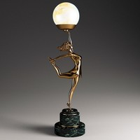 Art Deco Woman Lamp