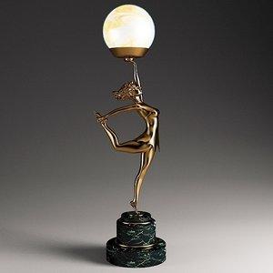 3d model female lamp art