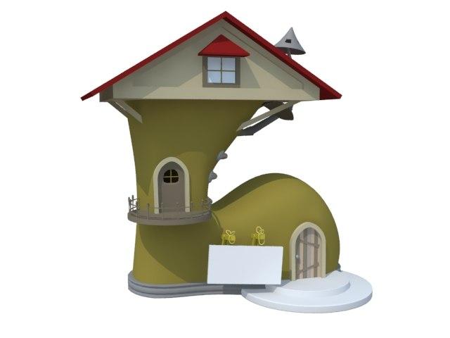 3d boot house model
