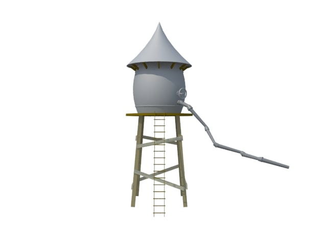 3dsmax water tower