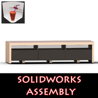 assembly tv furniture drawers 3d ige