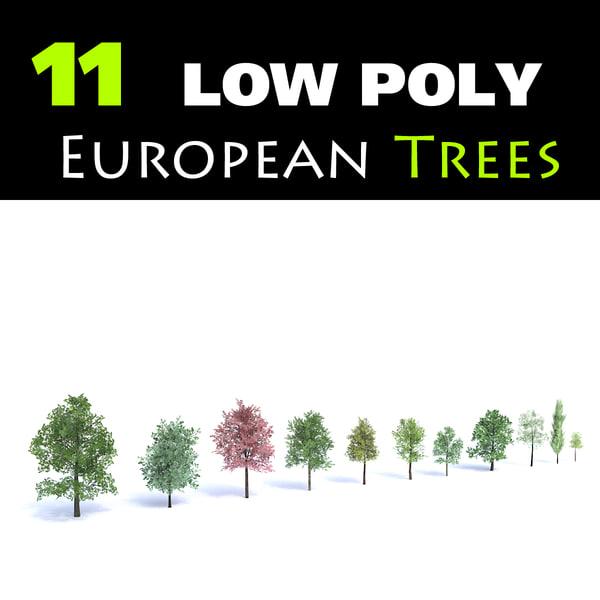 11 set oak sycamore 3d max